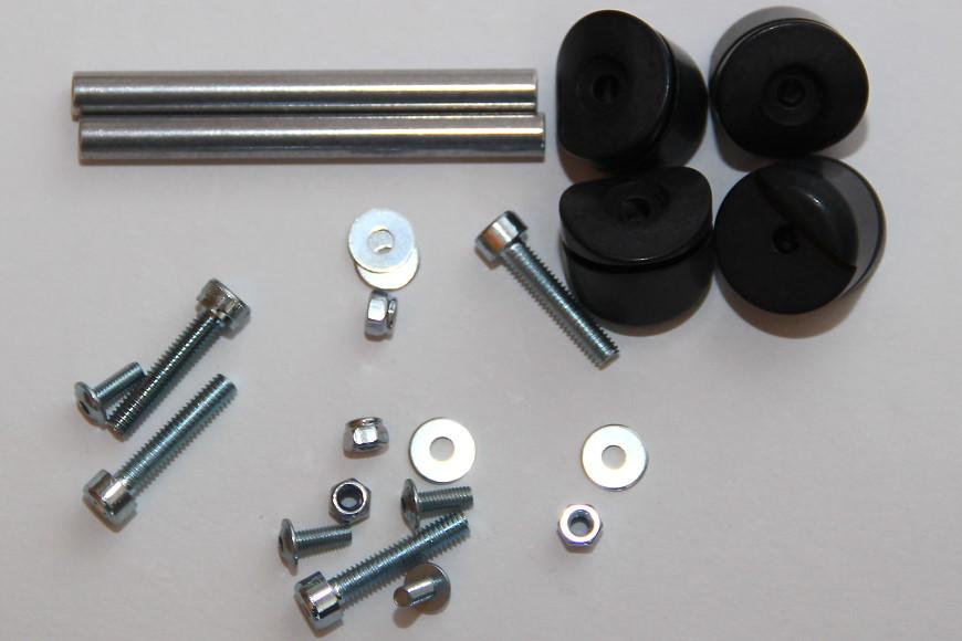 Henseleit TDF - Chassisunterbau: Kufenhalter und Verbindungsbolzen