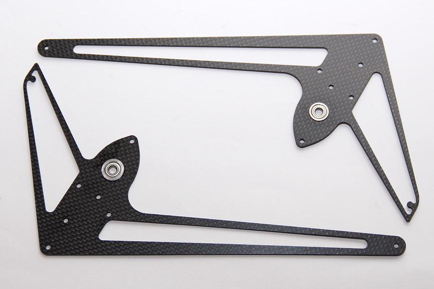 Henseleit TDF - Heckgetriebe: Seitenleitwerksplatten